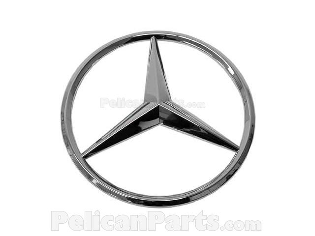 Mercedes star emblem 0008171416 genuine mercedes benz for Mercedes benz star logo