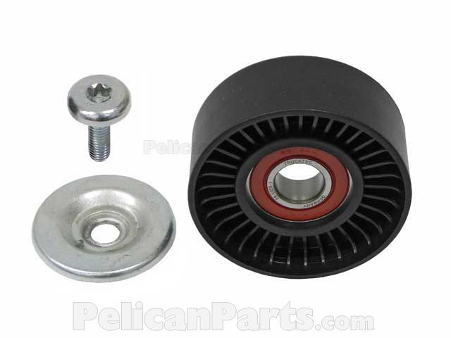 Drive belt tensioner pulley 2712000570 trucktec for Mercedes benz belt tensioner pulley