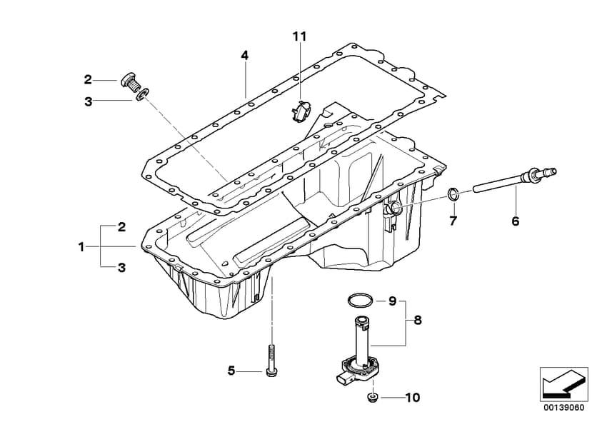 engine oil pan bolt kit 11132210959