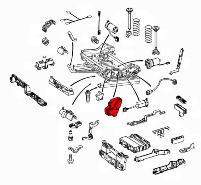 Seat switch 21082137519051 genuine mercedes benz 210 for Mercedes benz genuine parts online