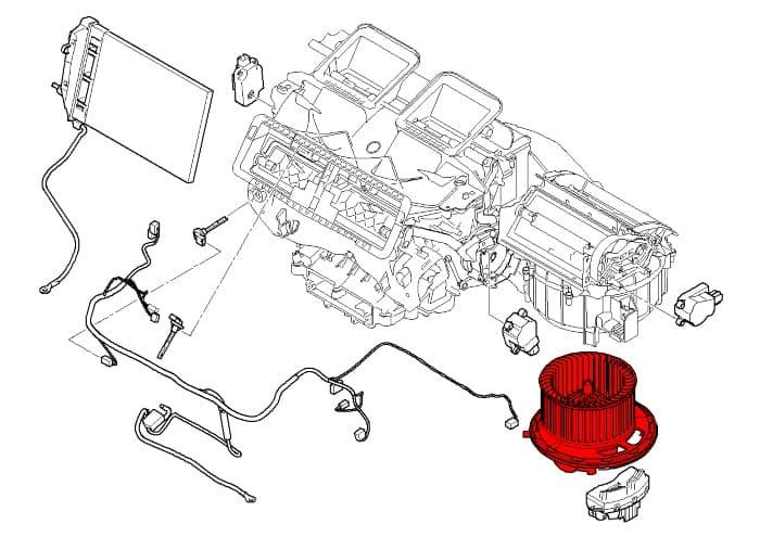 blower motor assembly 64119227670 - genuine bmw