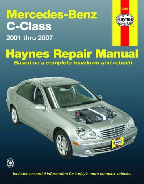 Haynes manual mercedes c class 2001 2007 for Books mercedes benz