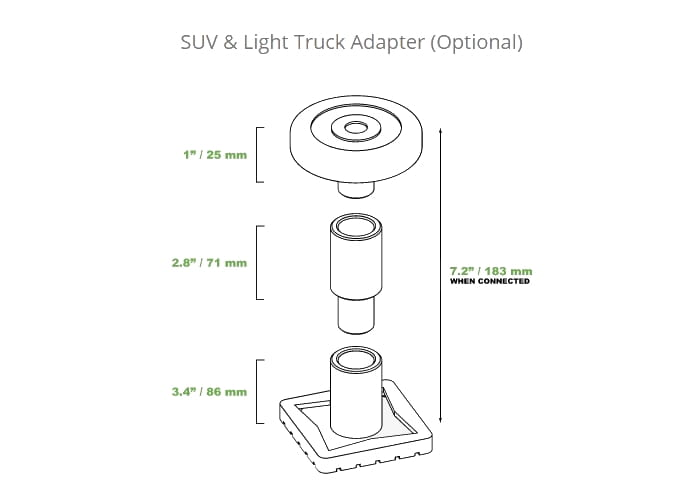 QuickJack SUV & Light Truck Adapter (sold seperate)