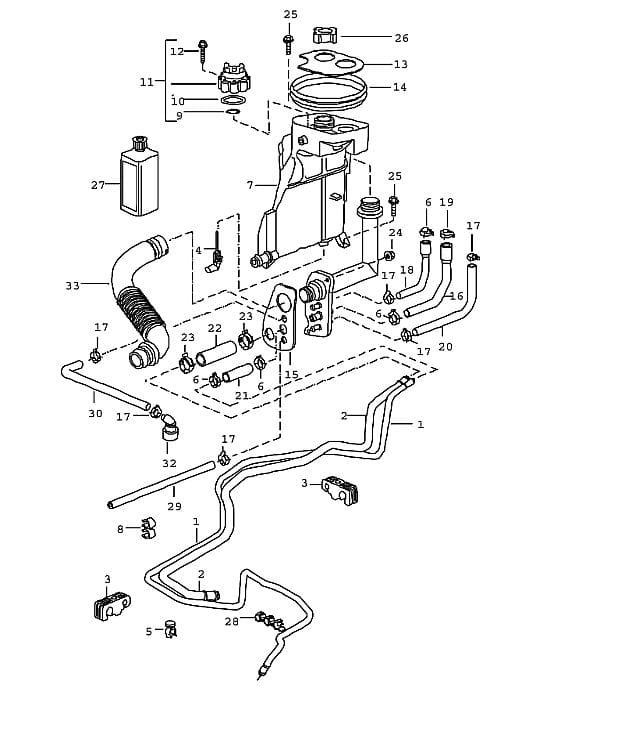 Porsche Boxster Engine Diagram: Porsche Boxster Coolant Tank Replacement