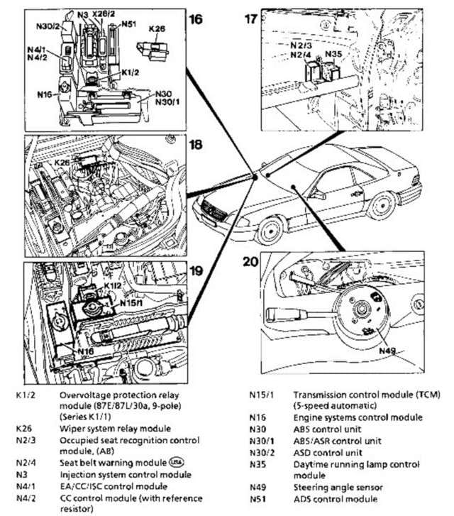 37 ELEC Replacing Instrument Cluster Light Bulbs on mercedes fuel pump diagram
