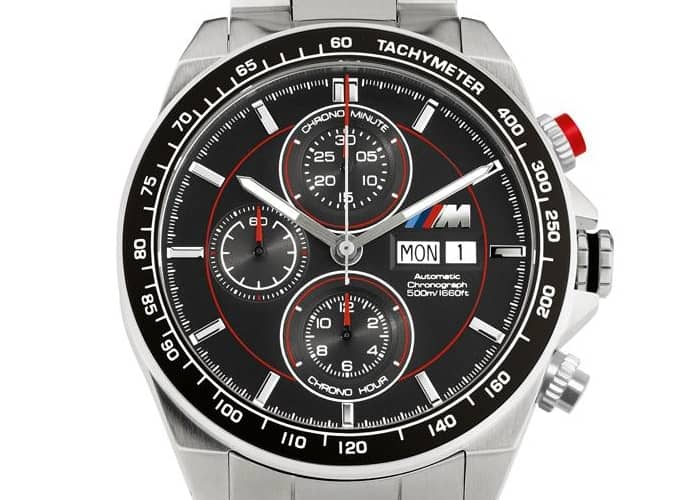 bmw m chronograph automatic watch. Black Bedroom Furniture Sets. Home Design Ideas