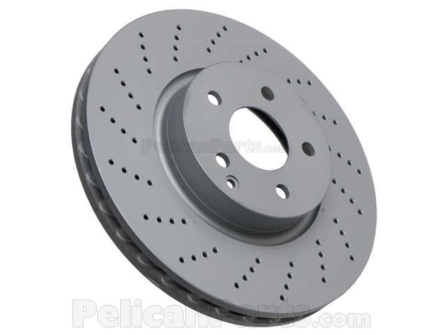 For Mercedes W204 W212 Front Vented X-Drilled 322 x 32 mm Brake Disc ATE COATED