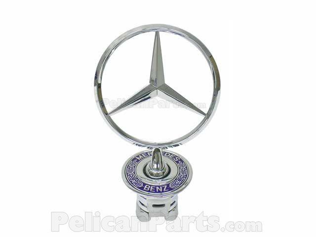 New Genuine Mercedes w124 w202 w203 w208 Hood Emblem Star OEM E320 E420 E55 S500