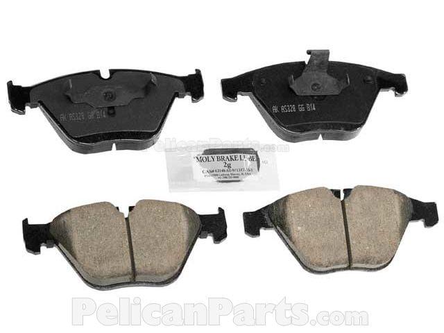 Front BMW E82 E88 128i 2008-2009 Brake Pad Set OPparts Semi Met D81061AOSM