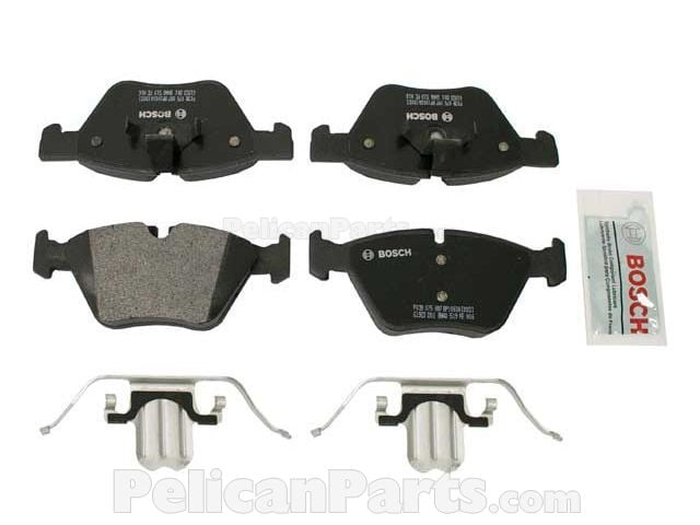 Sensors Kit Bosch QuietCast BMW E82 E88 135i Front /& Rear Brake Pads w Jurid