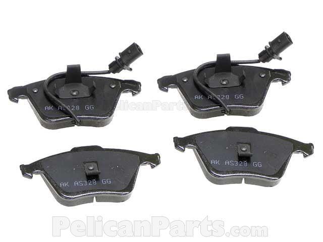 Audi Brake Pad Set - 4B0698151AD - Akebono Euro EUR 915 4B0 698 151 AD