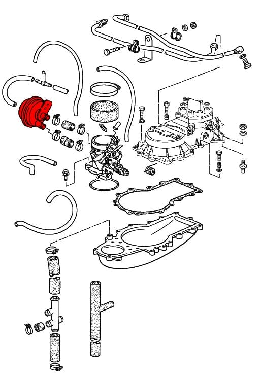 vacuum limiter 93011019000 - genuine porsche