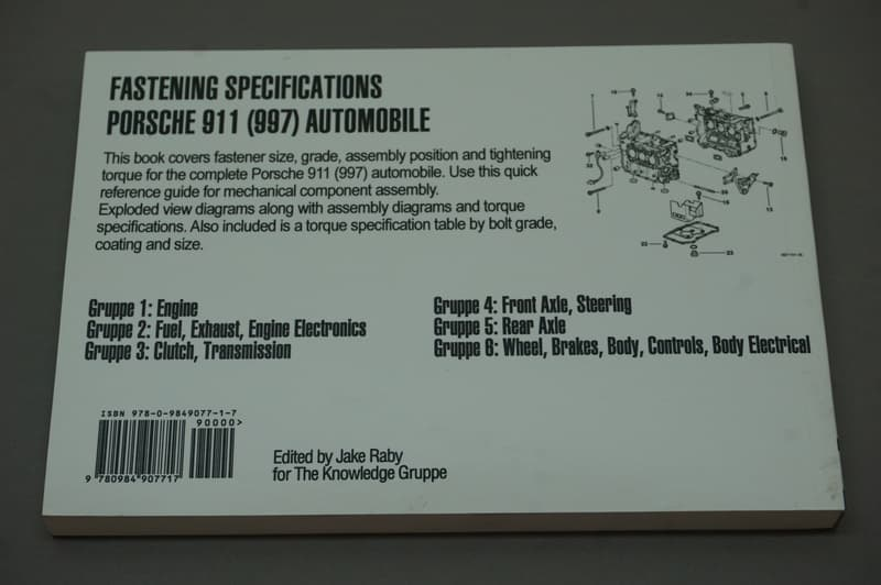 Porsche Technical Specification Book The Knowledge Gruppe 978-0