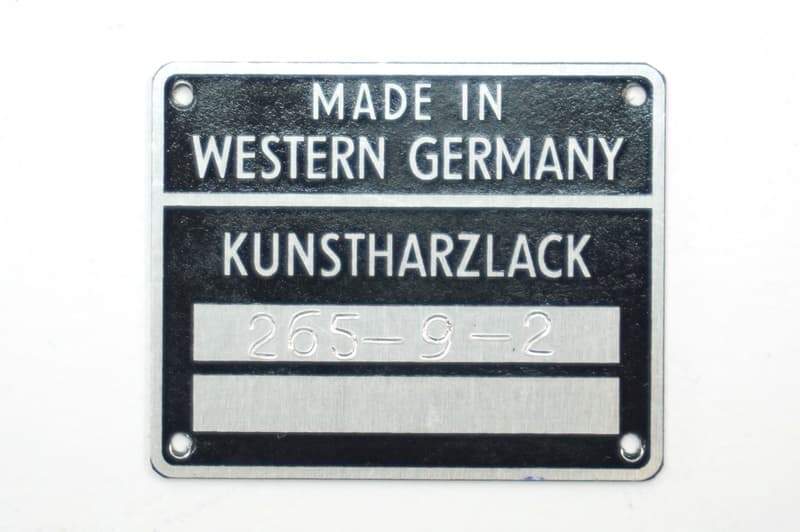 Color Code Door Jamb Plate with Custom Punched Numbers