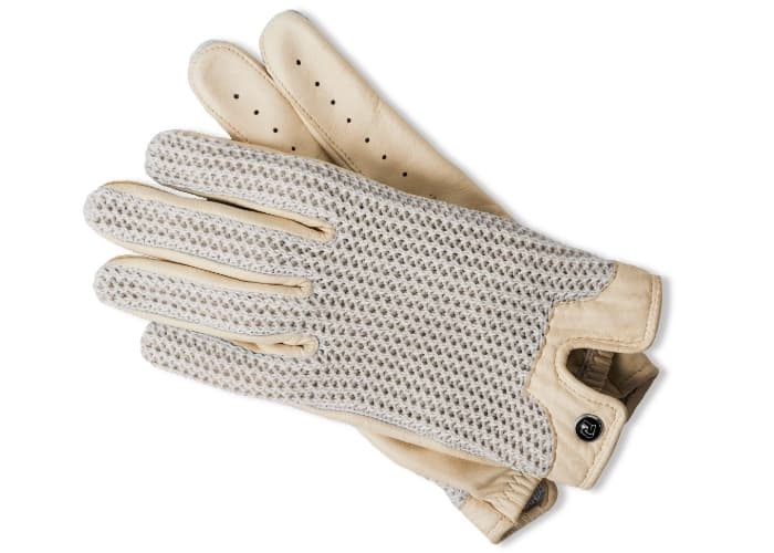 Autodromo Driving Gloves Ivory