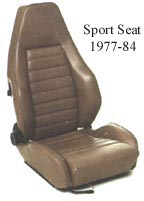 Porsche Front Sport Seat Upholstery Kit WU91106012 WU 911 0601 2
