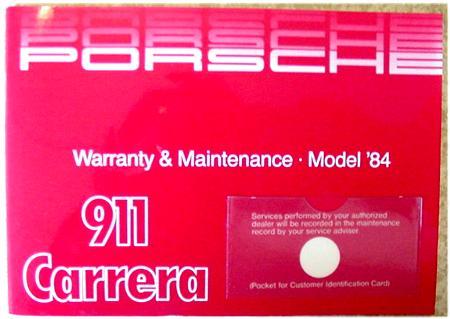 porsche 911 carrera owners manual 1984 wkd472421 genuine porsche rh pelicanparts com 1984 Porsche 911 Carrera Cabriolet Turbo Look Porsche 911 Carrera 2016